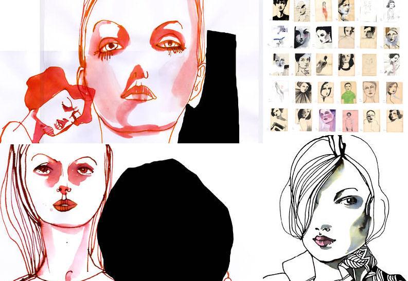 "Berlin Artist: Tina Berning - Brings ""100 Girls"" to Gallery Hanahou in NYC"