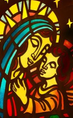 Mary & Jesus Stained Glass
