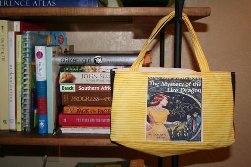 purse among the books