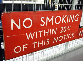This notice doesn't like passive smoking
