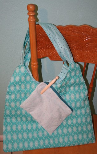 argyle spring swing bag & pouch