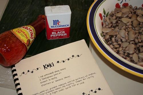 ingredients for koki