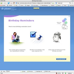 Plaxo birthday reminders