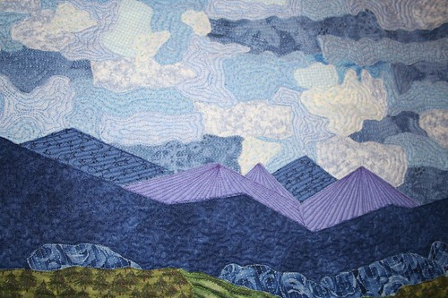 close up of the clouds, mom's fabric painting
