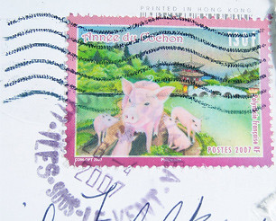Tahitian Postage Stamp