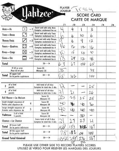Comics Bİlder Yahtzee Score Sheets - sample yahtzee score sheet