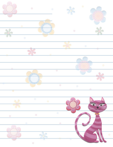 Cats Flowers Lined Stationery - a photo on Flickriver