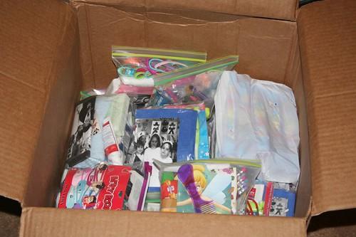 A kindergarden class sent 30 bags