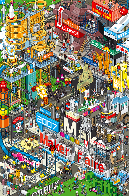 Maker Faire 2007 poster by eBoy
