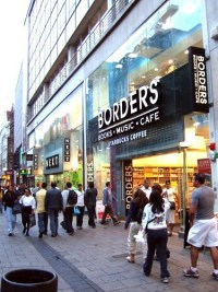 Borders bookstore - where I like hanging out on Saturday evening