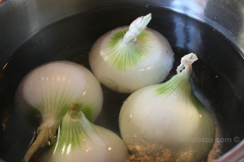White Onions ready to be stuffed