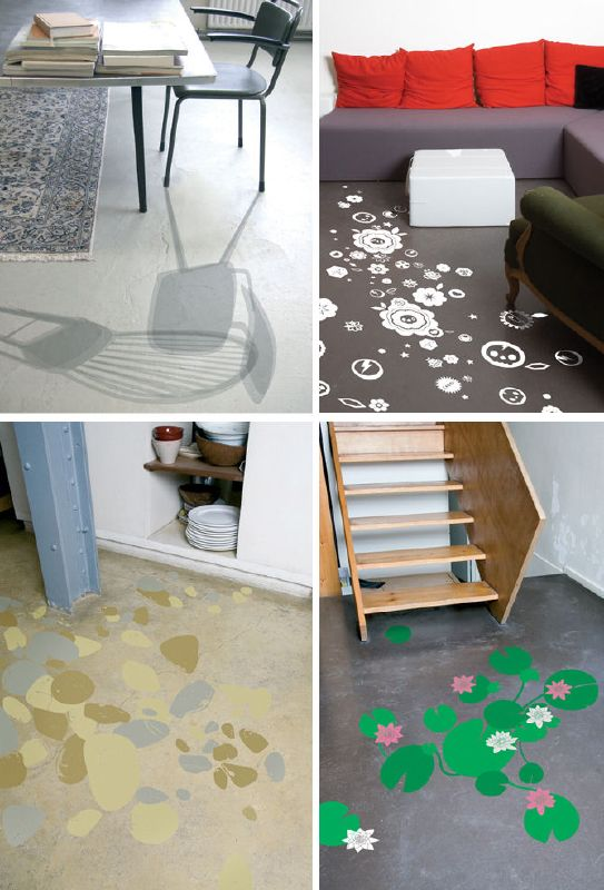 Domestic - Vinyl Decals for the Floor?