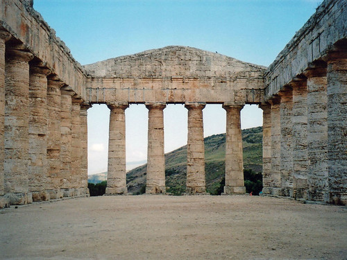 Segesta Temple from the Inside