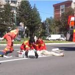 FOTO VIDEO Accident pe B-dul Victoriei. Bătrână spulberată pe trecerea de pietoni