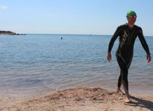 Un braşovean,primul român care a traversat înot Canalul Mânecii