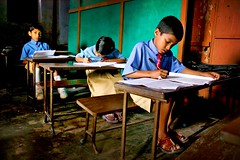 schoolchildren in sanorgaon