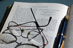 Legal text and glasses