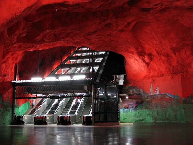 Stockholm Metro Escaltors - from flickr
