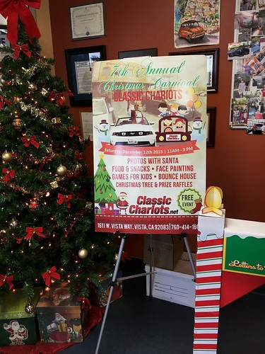 "OCEANSIDE CA USA - ""Classic Chariots 7th Annual Christmas Carnival""  Dec 12th Sat 11am to 3pm - bring your family friends! photos with Santa, food, face painting, kid games, bounce house, Christmas tree giveaways & prize raffles vendors too • <a style=""font-size:0.8em;"" href=""http://www.flickr.com/photos/134158884@N03/23061873124/"" target=""_blank"">View on Flickr</a>"