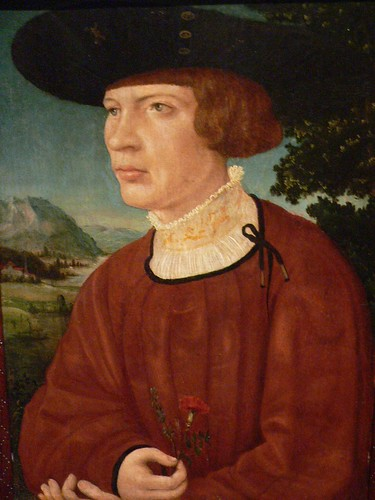 Portrait of a Young Man by Jorg Breu the Elder German 16th Century