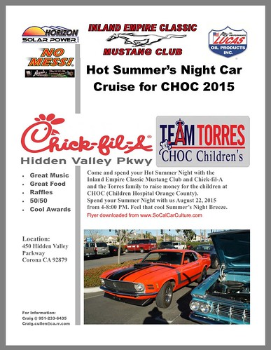 "CORONA CA USA - ""Hot Summer's Cruise for CHOC"" August 22 Saturday - 4pm to 8pm - Great Music, Great Food, Raffles, 50/50, Cool Awards - credit: www.SoCalCarCulture.com • <a style=""font-size:0.8em;"" href=""http://www.flickr.com/photos/134158884@N03/20535836318/"" target=""_blank"">View on Flickr</a>"