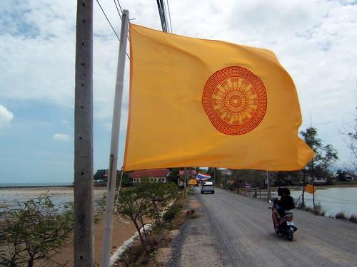 Flag @ Big Buddha, Thailand