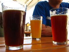 Beers at Boundary Bay Brewpub