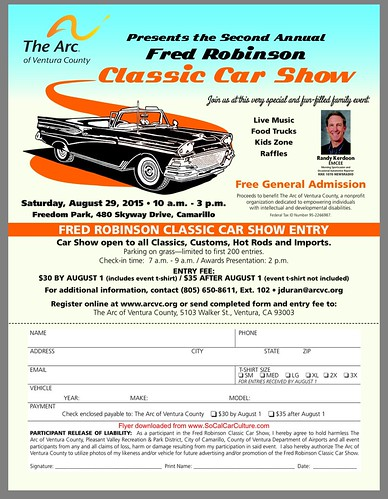 "CAMARILLO CA USA - ""Fred Robinson Classic Car Show"" August 29 Saturday - 10am to 3pm - FREE General admission - live music, kids zone, food trucks, Raffles - open to classics cars, hot rods, customs and imports - credit: www.SoCalCarCulture.com • <a style=""font-size:0.8em;"" href=""http://www.flickr.com/photos/134158884@N03/20913967352/"" target=""_blank"">View on Flickr</a>"