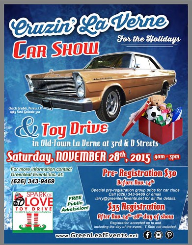 """LA VERNE CA USA - """"Cruzin La Verne Car Show For the Holidays and Toy Drive"""" November 28 Saturday 9am to 3pm - free to the public - crédit: www.SoCalCarCulture.com • <a style=""""font-size:0.8em;"""" href=""""http://www.flickr.com/photos/134158884@N03/22673604343/"""" target=""""_blank"""">View on Flickr</a>"""