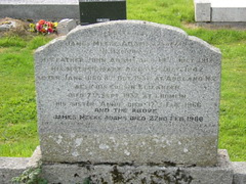 Adams Family Gravestone