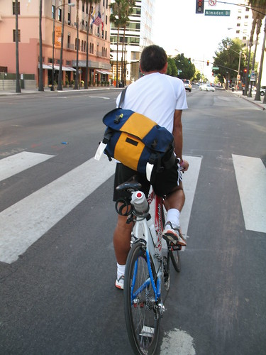 Cyclist on Santa Clara Street