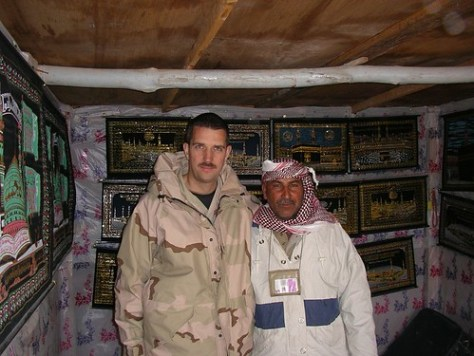 Lt. Magnum out n' about reconstructing in Iraq