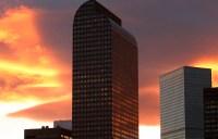 Wells Fargo Center at Sunset