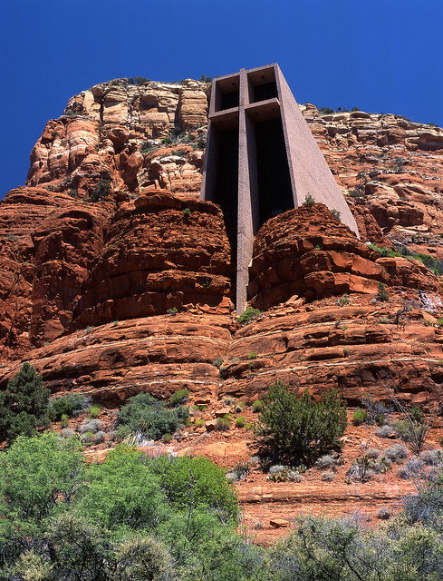 Chapel Built in Red Rock, Sedona, Arizona
