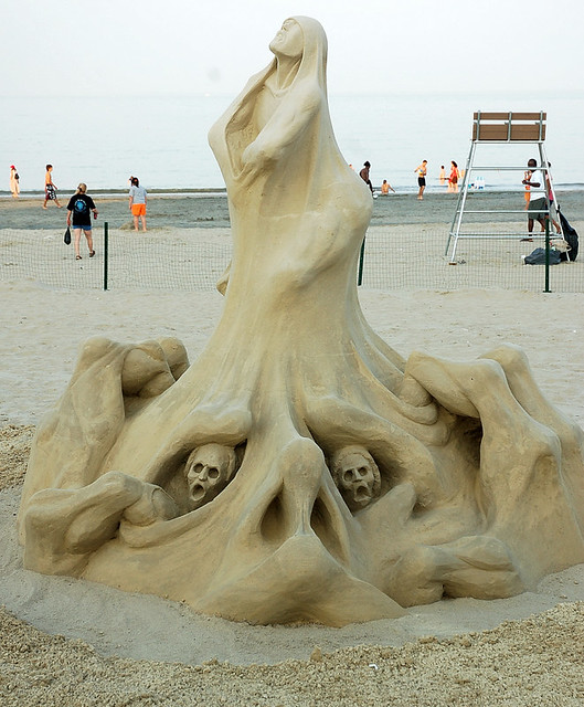 Sand Sculpture -Conflict with One's Self....(WHAT DO YOU SEE IN THIS PICTURE?)