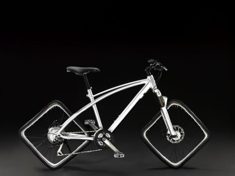a bike that can only run on special roads.