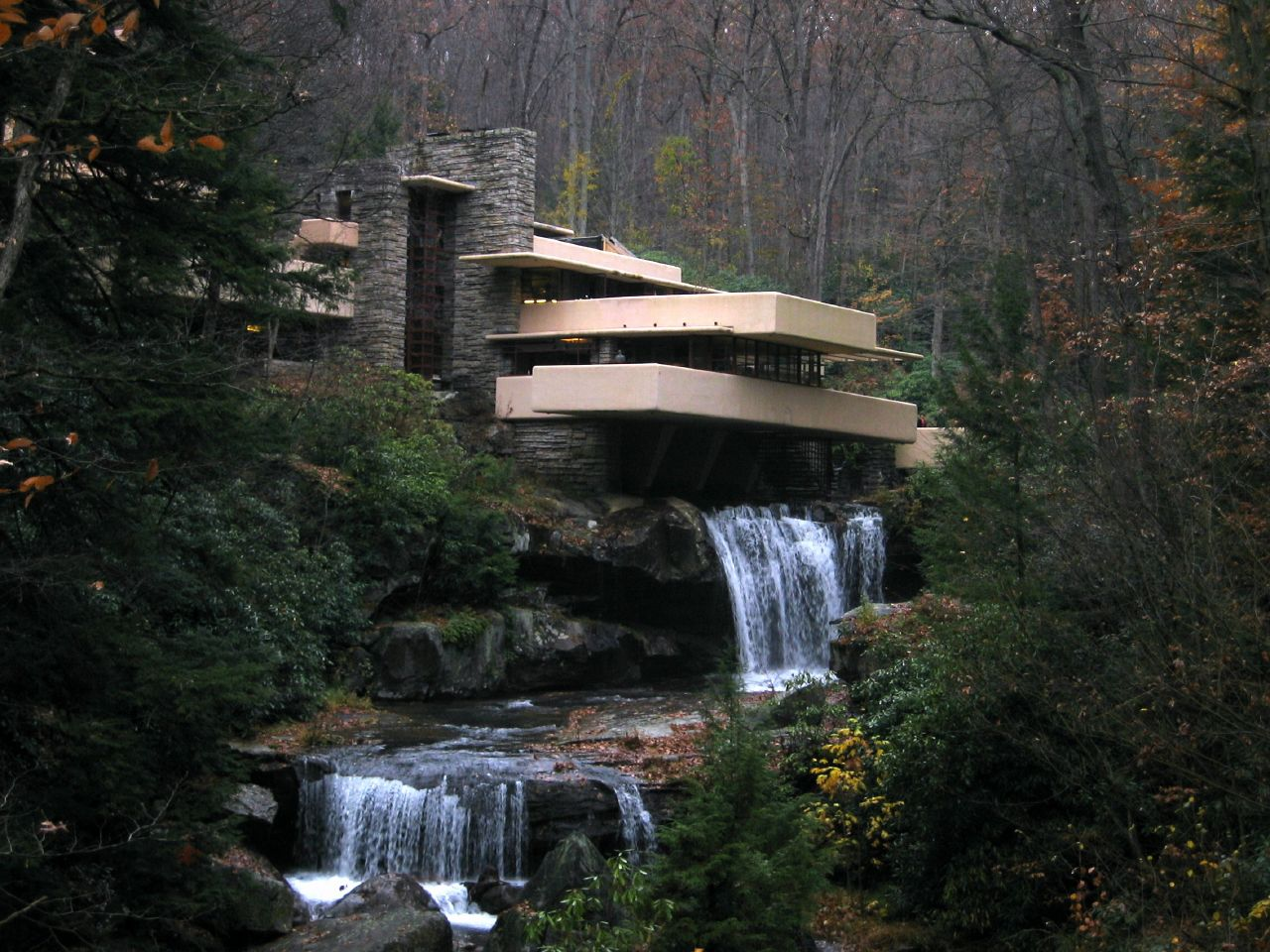 Falling Water House Wallpaper Falling Water Pennsylvania A Photo On Flickriver