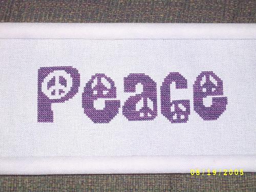 Peace (Stitching the Night Away design)