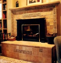 tile restoration center: fireplace and raised hearth ...