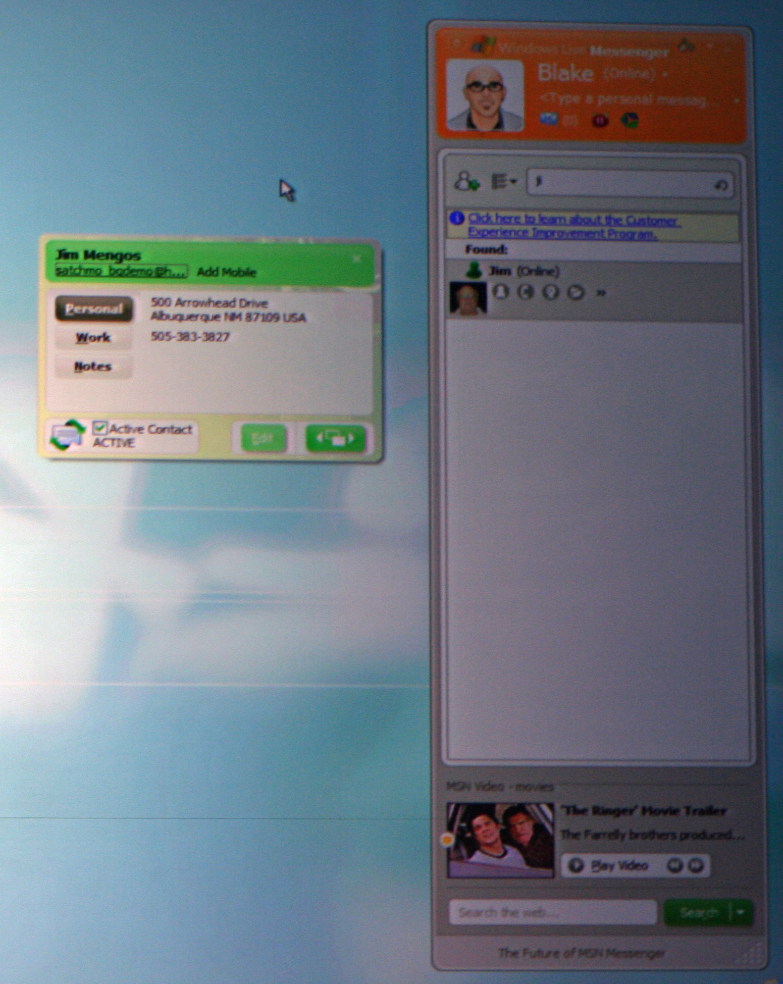 Window Live Messenger Windows Live Messenger And Mail Niall Kennedy