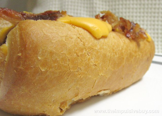 Sonic Bacon Double Cheddar Croissant Dog Bun