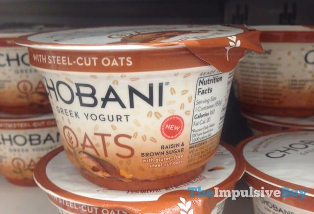 Chobani Oats Raisin & Brown Sugar Greek Yogurt