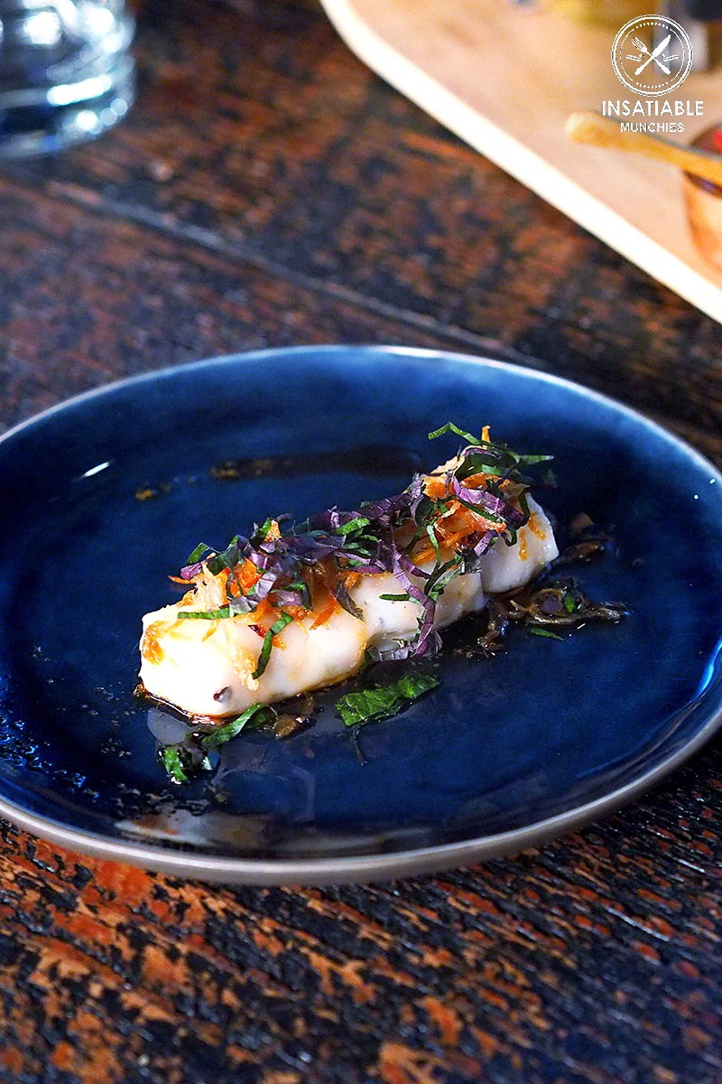 Sydney Food Blog Review of Junk Lounge at Cruise Bar, Circular Quay: Rice steamed roll with wood ear mushroom & tofu. Served with ginger, soy & sesame, $4