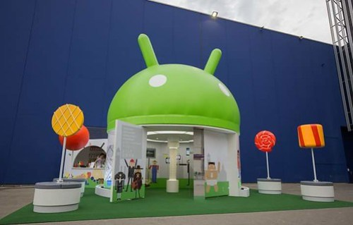 #MWC15 Android Stand externo