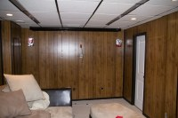Using Paintable Wallpaper to Cover Wood Paneling