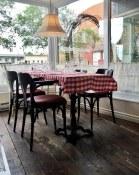 Window table at La Bouchon du Pied Bleu | Quebec City