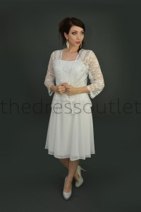 Classic Mother of Bride Groom Short Formal Gown ...