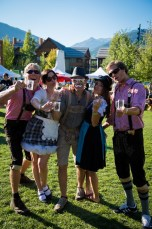 Whistler village Beer Festival at Olympic Plaza