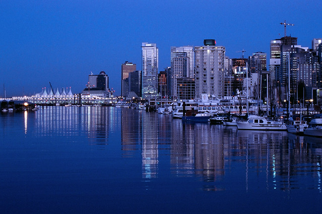New 3d Wallpaper Hd Vancouver Cityscape Vancouver Skyline At Night As Seen
