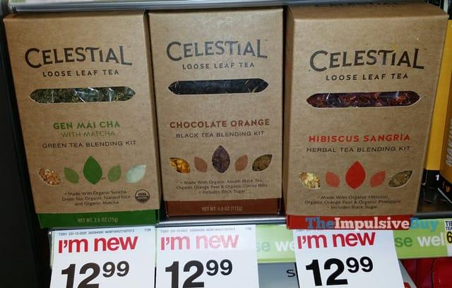 Celestial Loose Leaf Tea (Gen Mai Cha, Chocolate Orange, and Hibiscus Sangria)